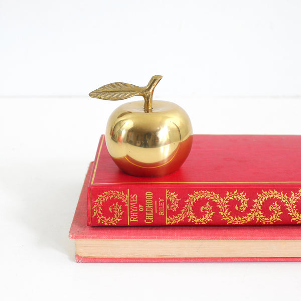 SOLD - Vintage Brass Apple Bell