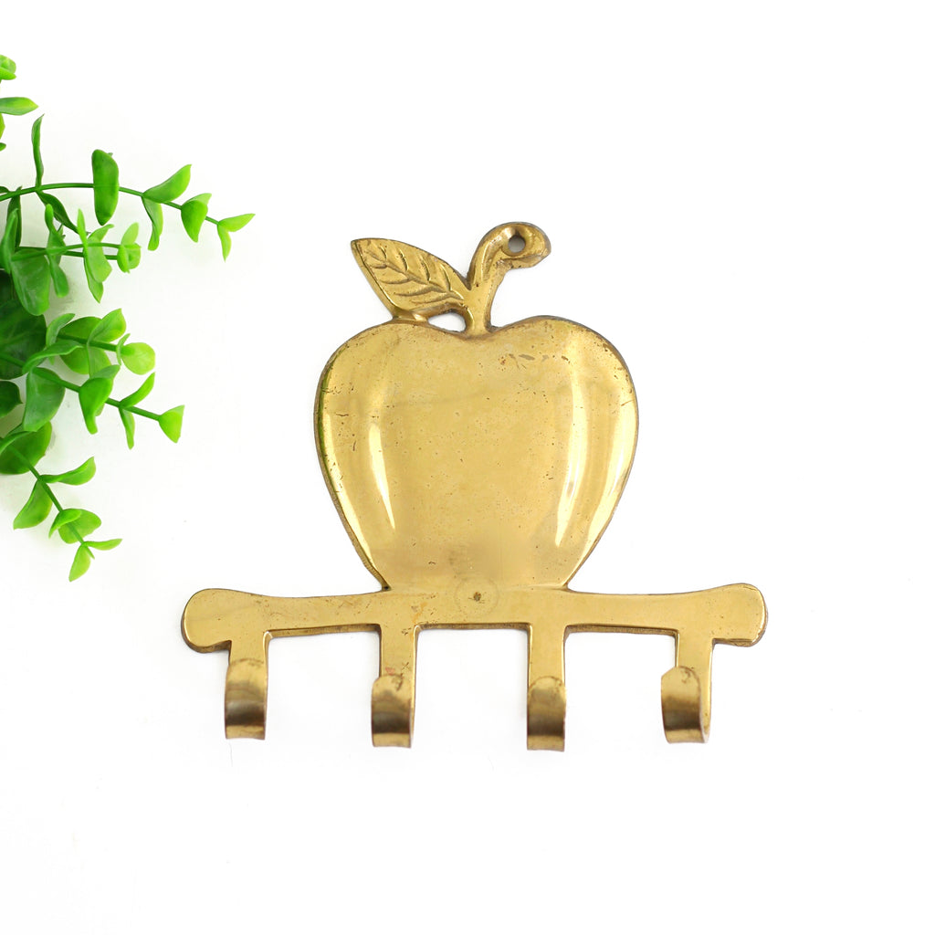 Vintage Brass Apple Wall Hooks
