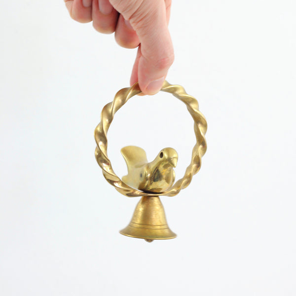 SOLD - Vintage Brass Bird Bell