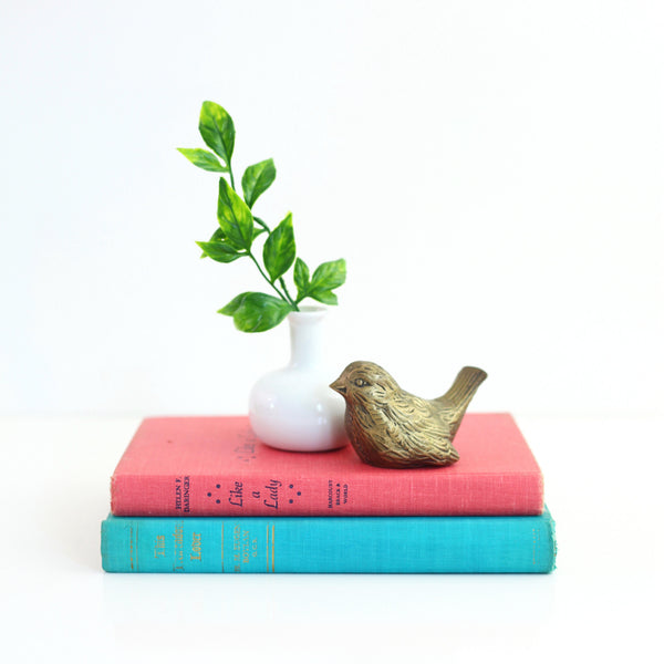 SOLD - Vintage Brass Bird Figurine