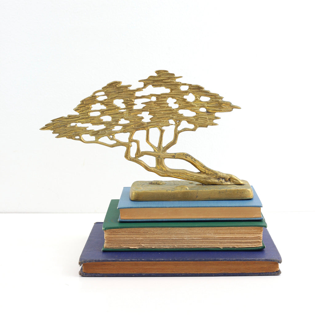 SOLD - Vintage Brass Bonsai Tree