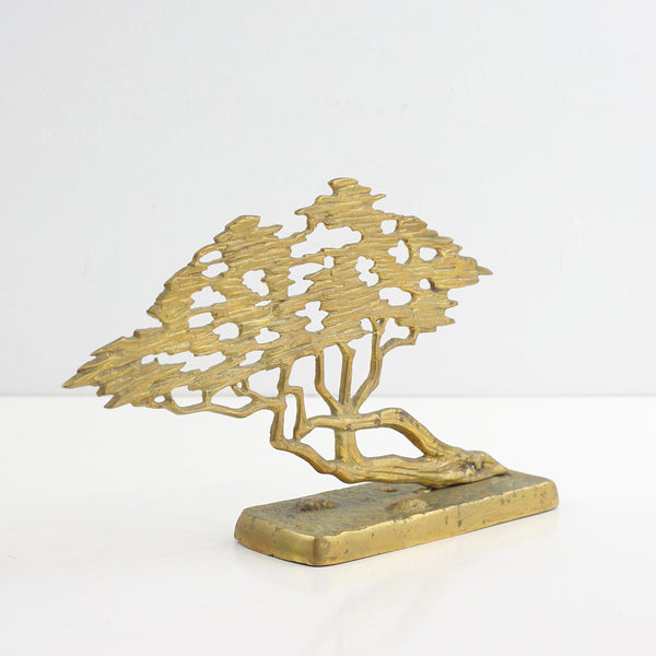 Vintage Brass Bonsai Tree
