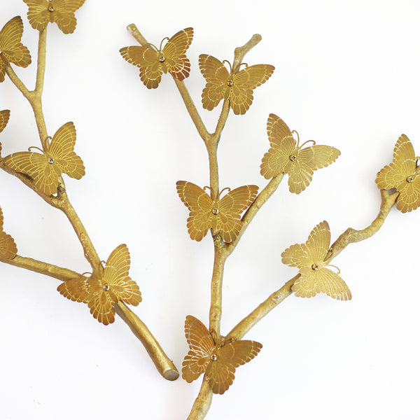 SOLD - Mid Century Brass Butterflies Wall Decor