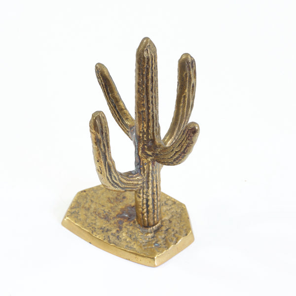 Vintage Brass Cactus Jewelry Holder