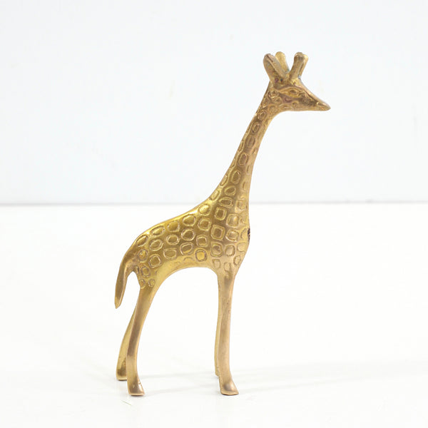 SOLD - Vintage Brass Giraffe Figurine
