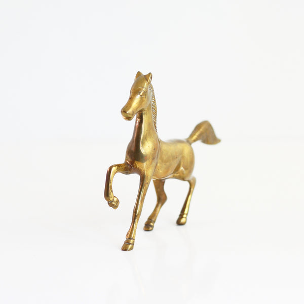 SOLD - Vintage Brass Horse Figurine