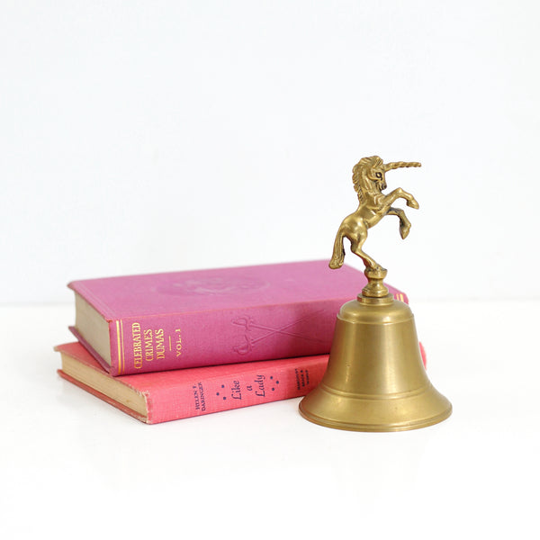 SOLD - Vintage Brass Unicorn Bell