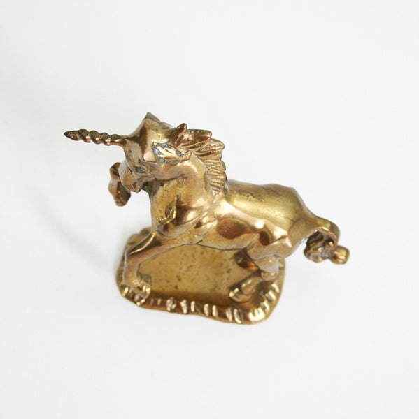 SOLD - Vintage Brass Unicorn / Mid Century Unicorn Figurine