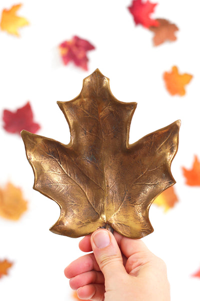 Vintage Bronze Leaf by Sculptor Robert Graham