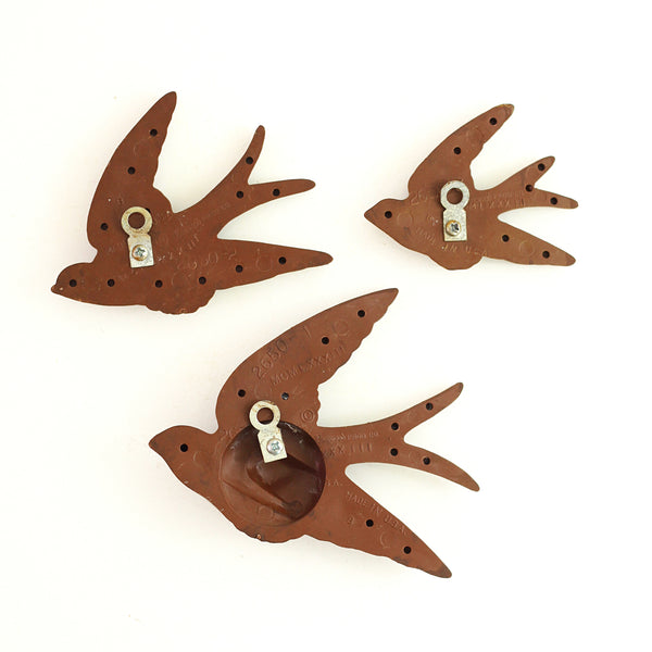 SOLD - Vintage Faux Bois Birds Wall Decor by Burwood