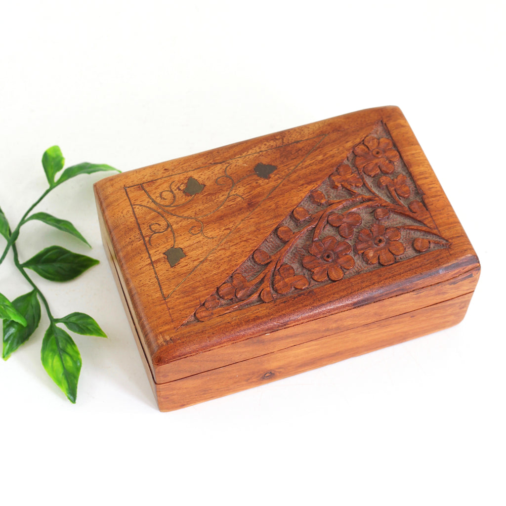 Boxes/chests Antique Furniture Antique Carved Solid Wood Log Box