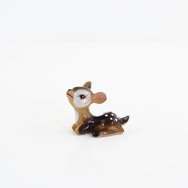 SOLD - Vintage Ceramic Fawn Figurines