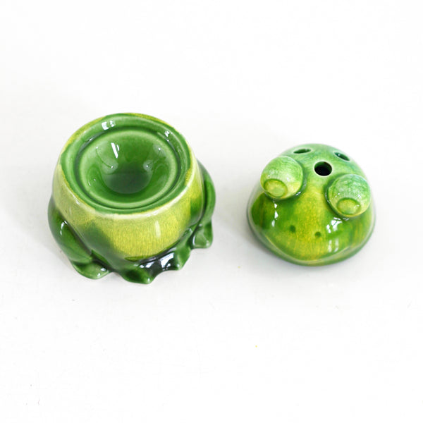 SOLD - Vintage Ceramic Frog Incense Burner