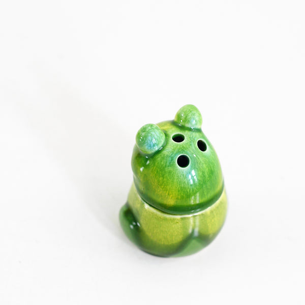 Vintage Ceramic Frog Incense Burner