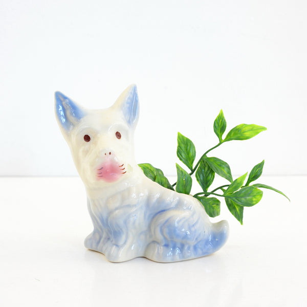 Vintage Ceramic Dog Planter