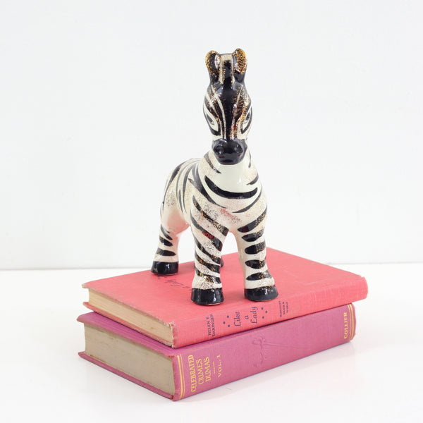 SOLD - Mid Century Ceramic Zebra