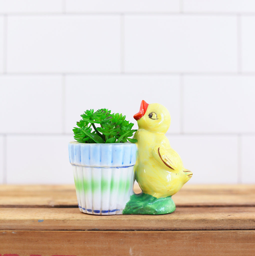 SOLD - Vintage 1950s Chick Planter from Japan