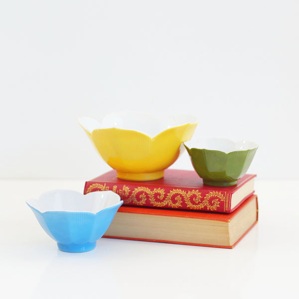 SOLD - Colorful Vintage Lotus Bowls