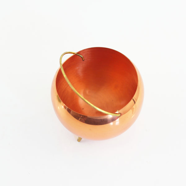 SOLD - Vintage Copper Footed Planter by Coppercraft Guild