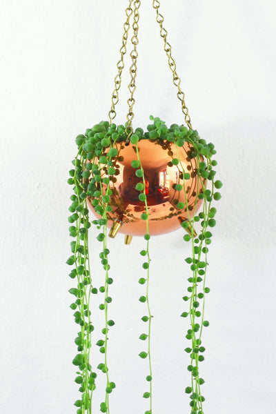SOLD - Hanging Copper Planter by Coppercraft Guild