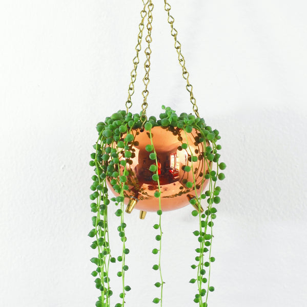Hanging Copper Planter by Coppercraft Guild