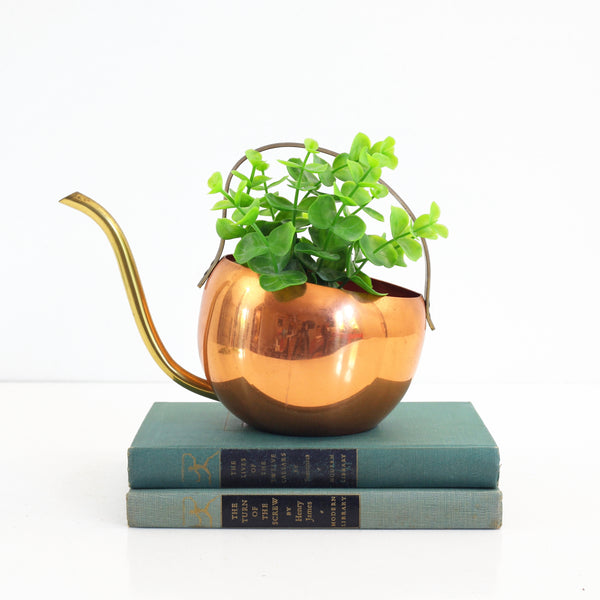 Mid Century Copper Watering Can by Coppercraft Guild
