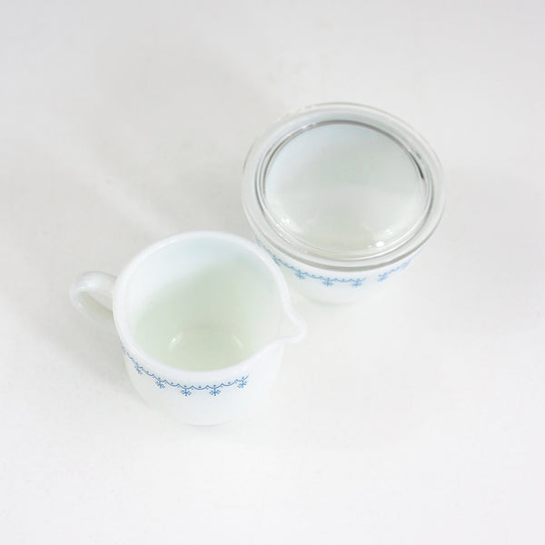 SOLD - Vintage Pyrex Garland Cream & Sugar Set