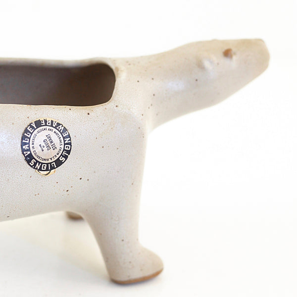 SOLD - Mid Century David Stewart Lion's Valley Polar Bear Planter