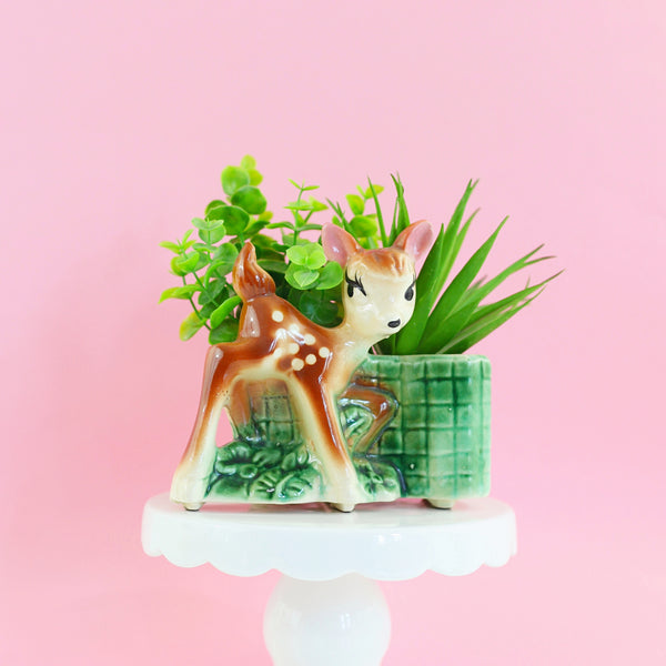 SOLD - Vintage 1950s Deer Planter