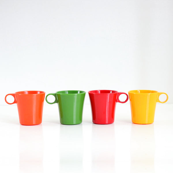 Mid Century Deka Rainbow Stacking Mugs