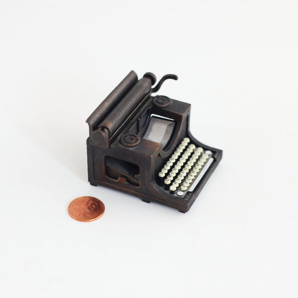 SOLD - Vintage Miniature Die Cast Metal Typewriter