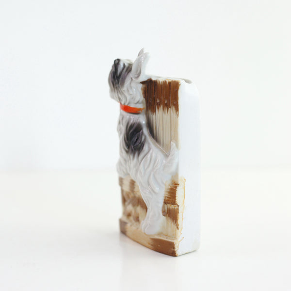 SOLD - Vintage Ceramic Dog Wall Pocket from Japan
