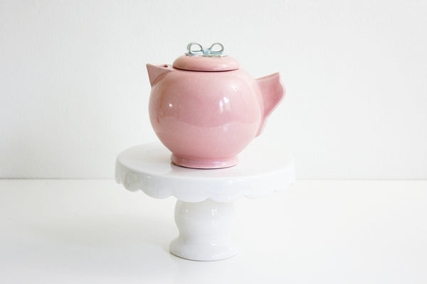 SOLD - Vintage Dorette Saltzman Cream Pitcher / Mid Century Modern Pastel Pink and Blue Pitcher