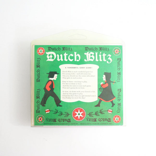 SOLD - Vintage 1973 Dutch Blitz Card Game / Colorful Vintage Family Game