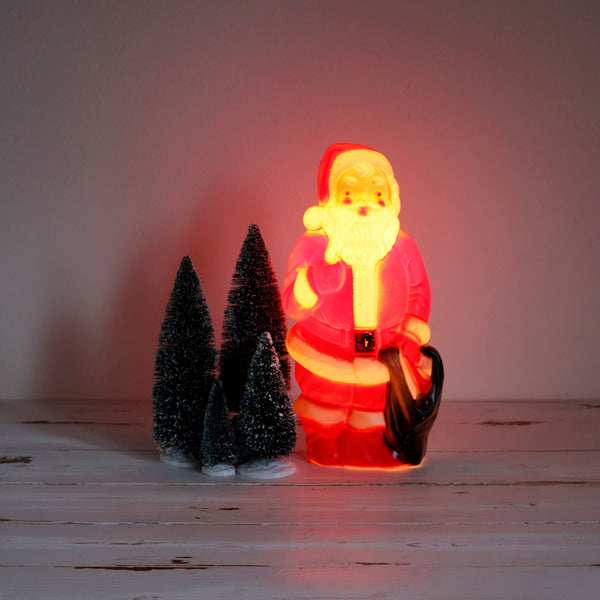 SOLD - Vintage 1960s Blow Mold Santa Claus Light
