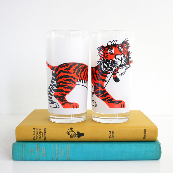Vintage Esso Tiger Glasses
