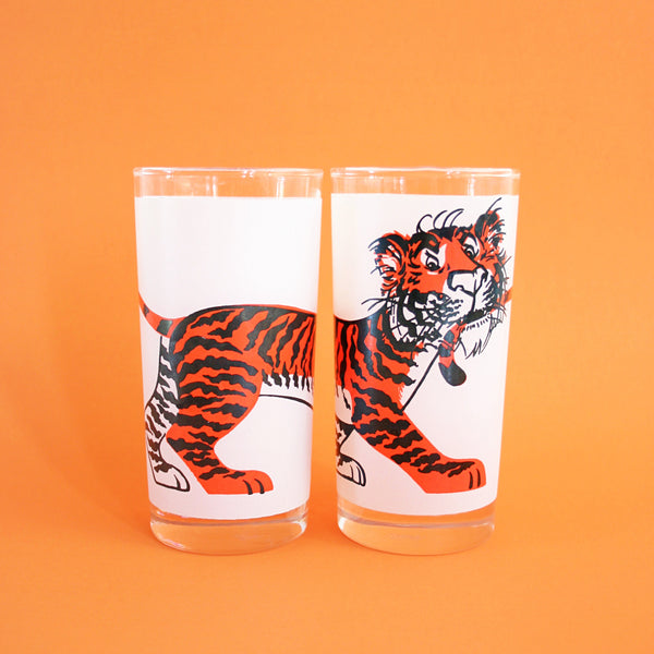 SOLD - Vintage Esso Tiger Glasses
