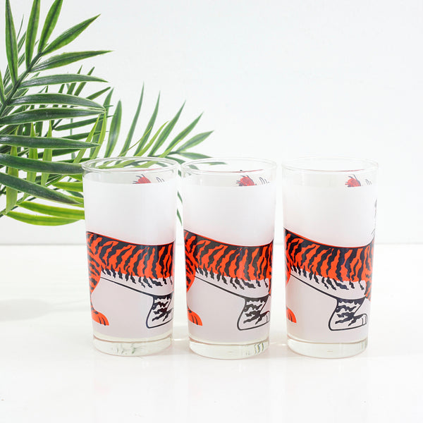 SOLD - Mid Century Esso Tiger Glasses