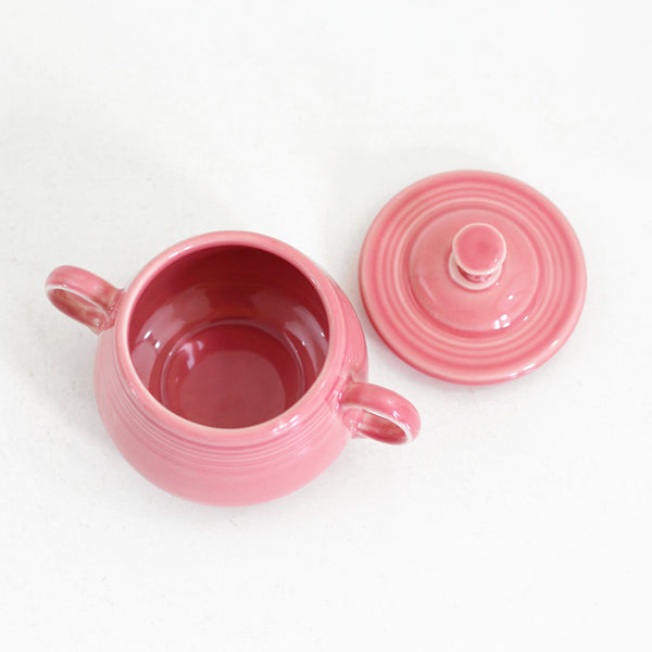 Vintage Fiesta Pink Rose Cream & Sugar Set
