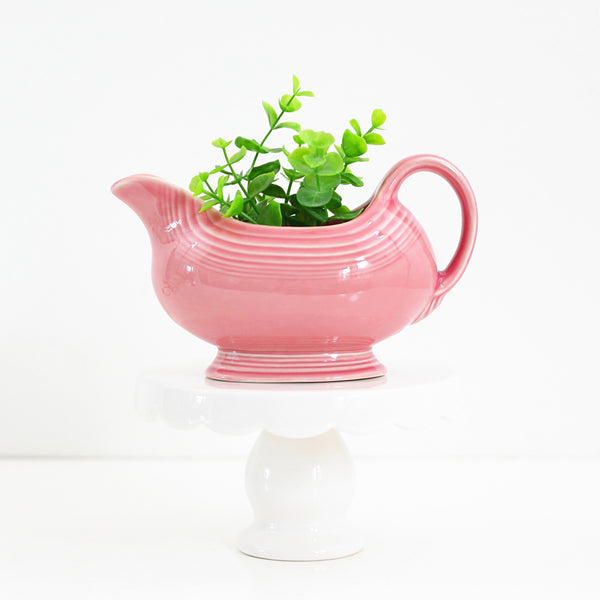 SOLD - Vintage Fiestaware Pink Rose Gravy Pitcher