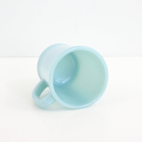 SOLD - Rare Mid Century Delphite Blue Fire King Mug