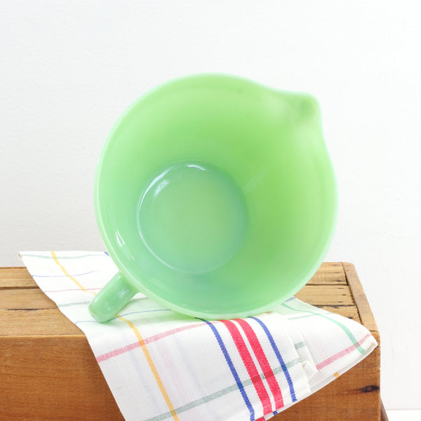 SOLD - Vintage Fire King Jadeite Batter Bowl