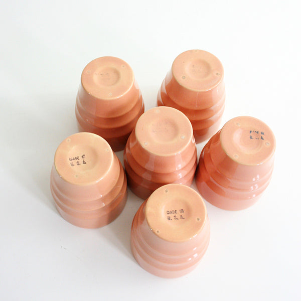 SOLD - Vintage Franciscan / Gladding McBean El Patio Tumblers in Peachy Coral