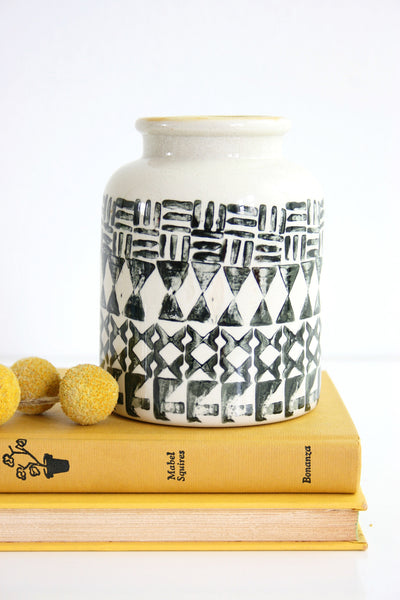 SOLD - Mid Century Modern Graphic Studio Pottery Vase