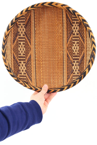 SOLD - Vintage Woven Basket Tray