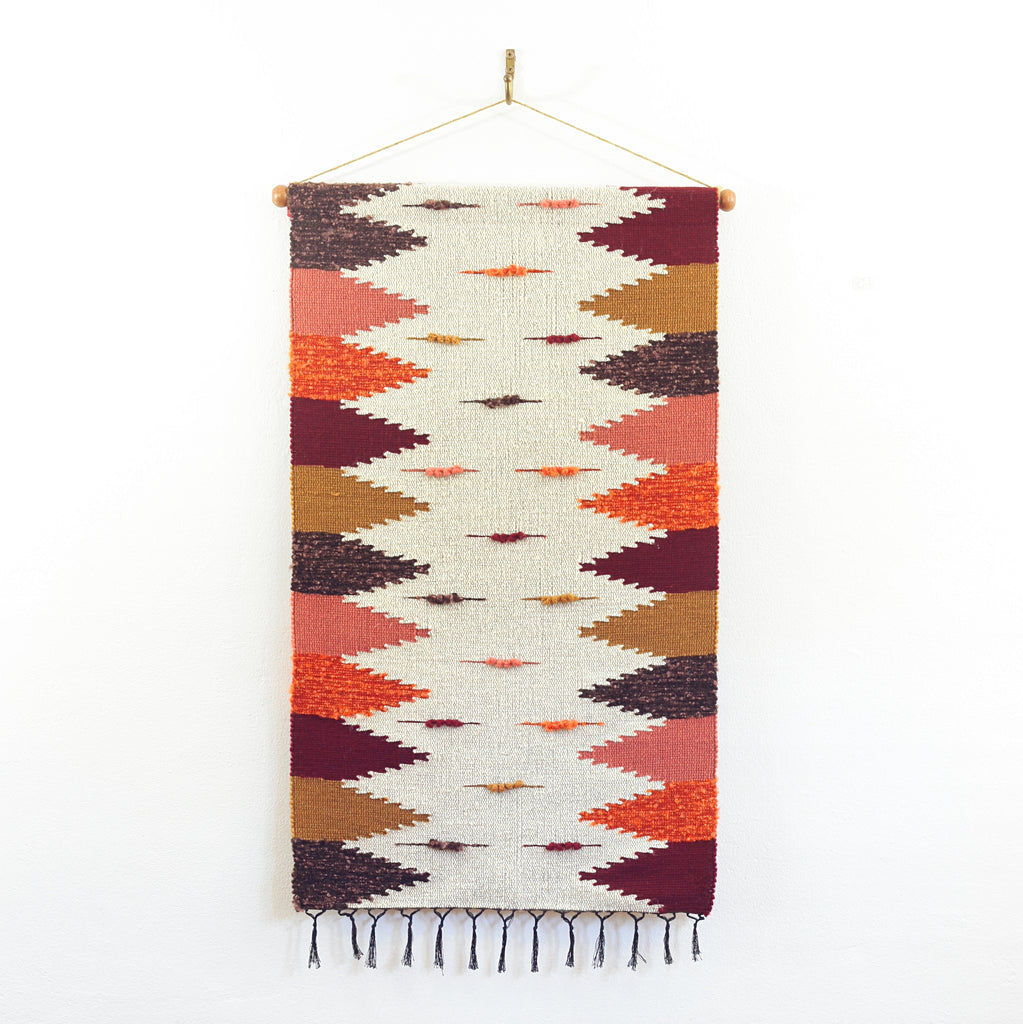 SOLD - Vintage Handwoven Wall Hanging
