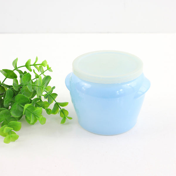 SOLD - Vintage Sky Blue Glasbake Jar