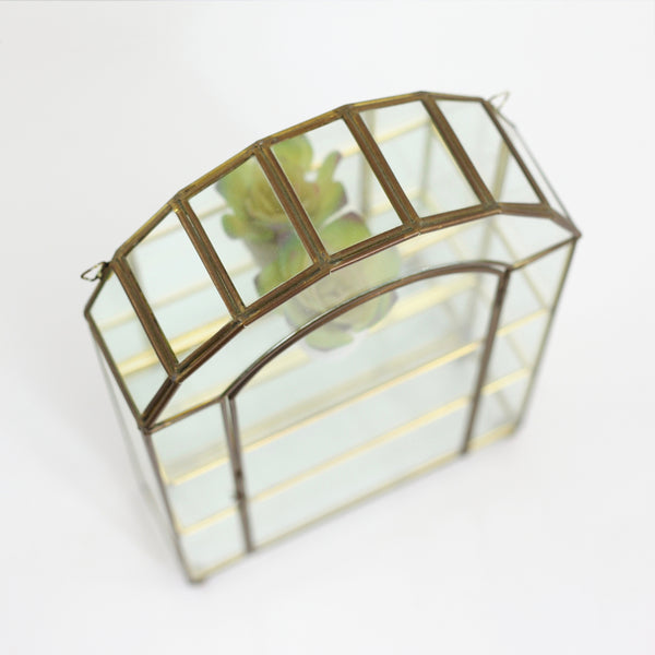 SOLD - Vintage Glass & Brass Mirrored Curio Display Box