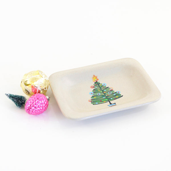 SOLD - Rare Vintage 1950s Glidden Christmas Tree Dish