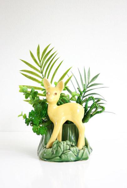 SOLD - Mid Century Shawnee Deer Planter / Vintage USA Pottery